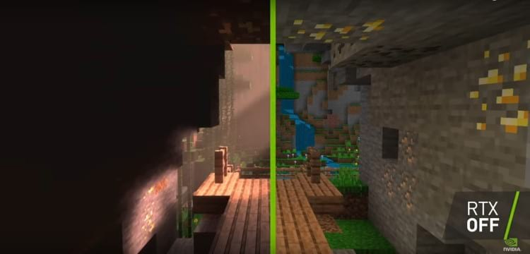 Minecraft com ray tracing