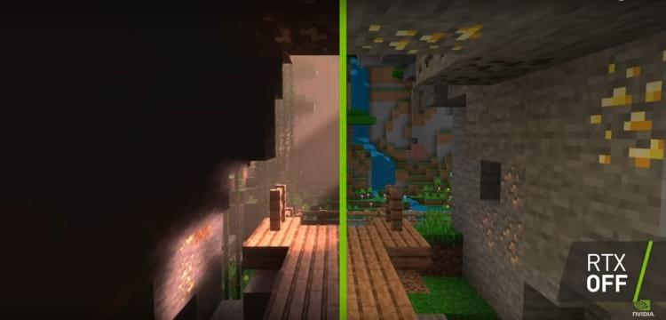 Minecraft com ray tracing