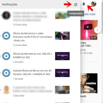 notificacoes do youtube