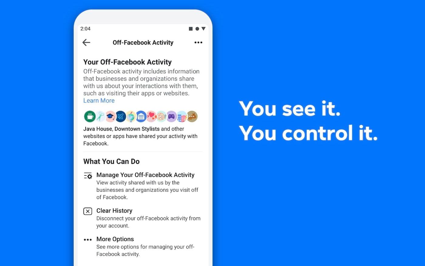 Facebook implementa novo controle de compartilhamento dos seus dados