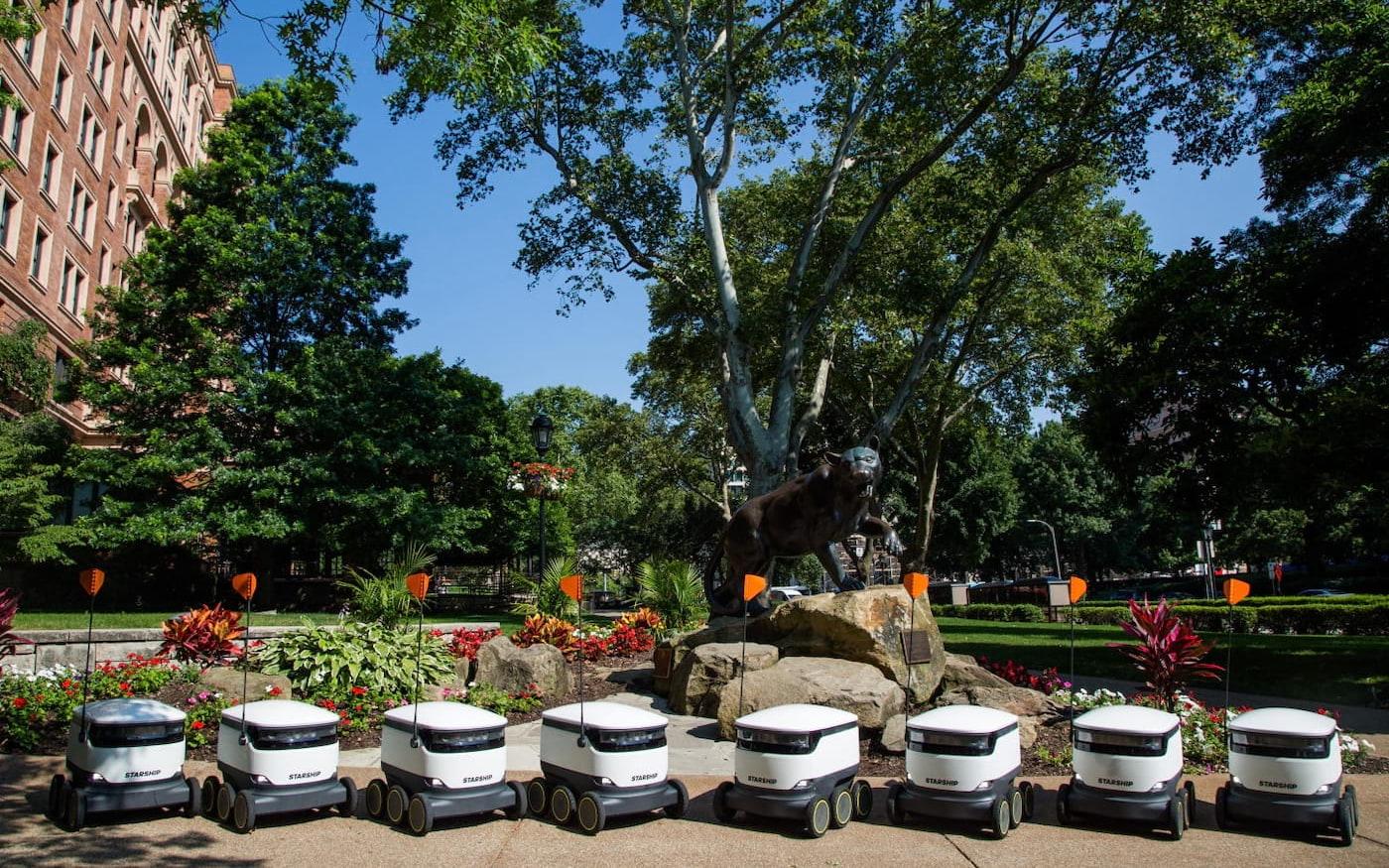 Milhares de robôs entregadores estão para chegar em universidades americanas