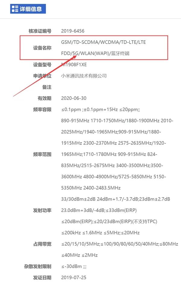 Xiaomi M1908F1XE