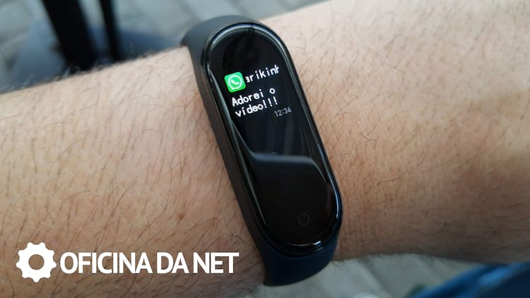 Notificação do WhatsApp na Mi Band 4
