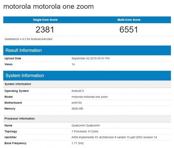 Pontuação semelhante já foi reportada no Geekbanch para o Galaxy A70 e o Redmi Note 7 Pro