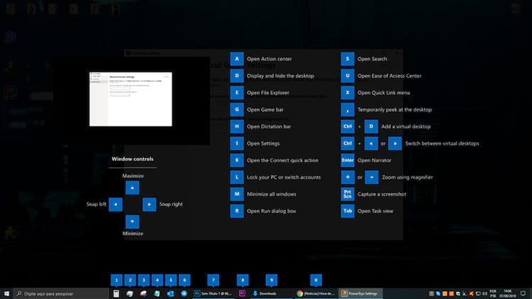 PowerToys para Windows 10 - Shortcut Guide