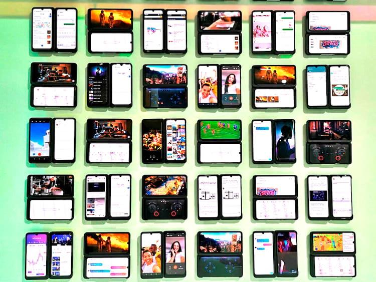 LG G8X ThinQ traz muitas possibilidades de uso do smartphone com uma segunda tela como mostradas na imagem