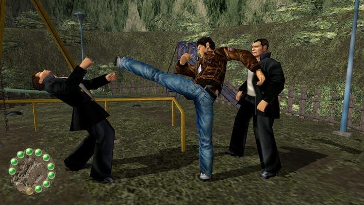 Ryo lutando em Shenmue