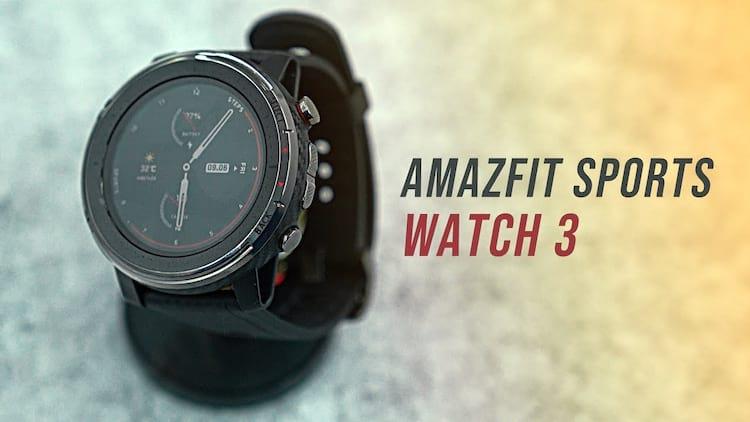 Amazfit Stratos 3 é o nome da versão global do novo smartwatch da Huami