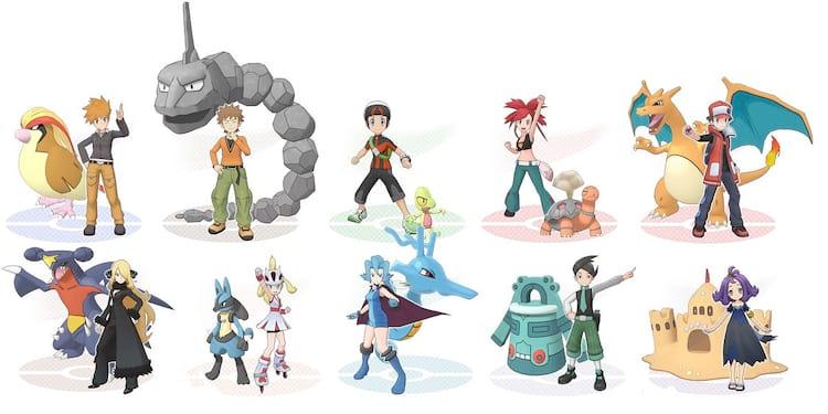 Personagens de Pokémon Masters