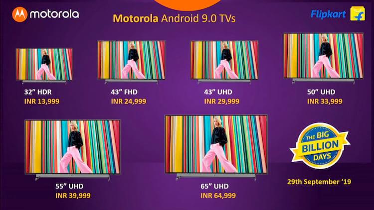 Motorola TV - Tamanhos e preços