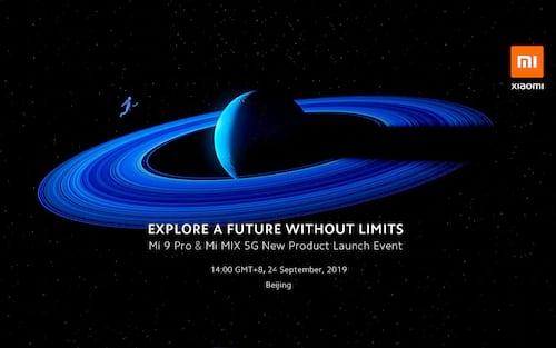 Xiaomi confirma evento para apresentar o Mi 9 Pro 5G, Mi Mix 4, MIUI 11 e mais, dia 24 de setembro