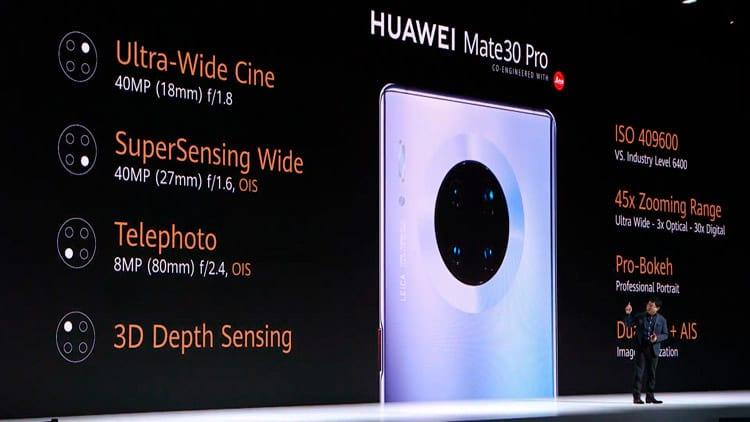 Huawei Mate 30 Pro - Câmeras