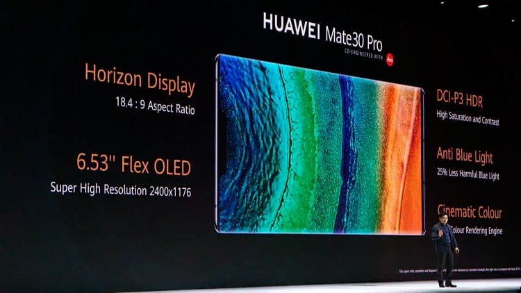 Huawei Mate 30 Pro Display. Foto: apresentação Huawei