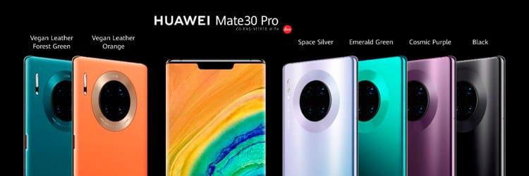 As cores do Huawei Mate 30 Pro. Foto: Huawei