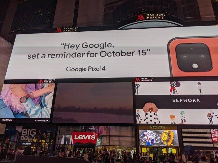 Google na Times Square - GSMarena