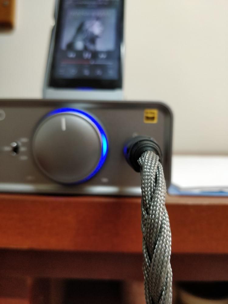 Amplificador FiiO K5 e Digital Audio Player (DAP) FiiO X7 Mark II. Foto por Vitor Valeri