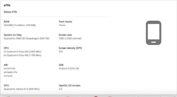 Print Google Play do A70s