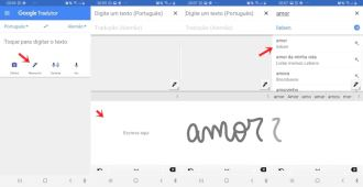 Manuscrito no Google Tradutor