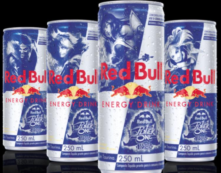 Latas colecionáveis do campeonato de LoL Red Bull Player One