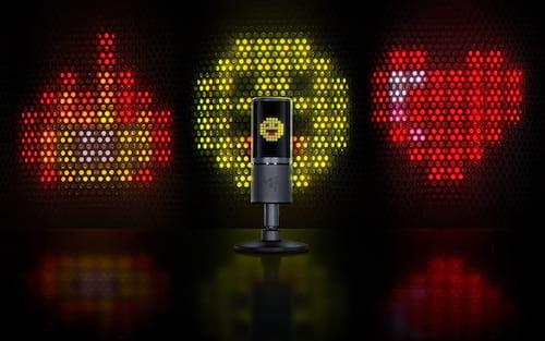 [Razer] Conheça o novo microfone RGB com tela da fabricante de periféricos, o Seiren Emote