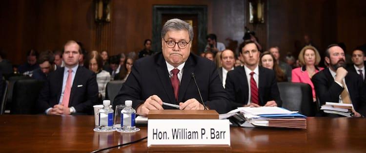 William P Barr (foto: CLODAGH KILCOYNE/REUTERS)