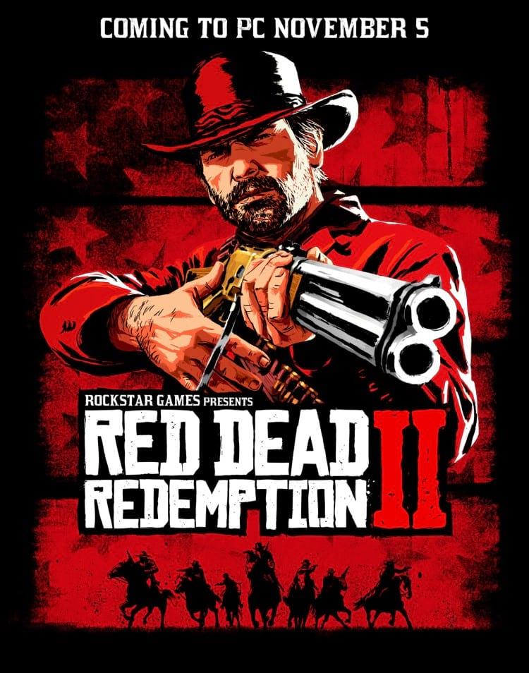 Banner de lançamento de Red Dead Redemption 2 para PC. Fonte: Rockstar Games