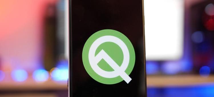 Imagem da logo do Android 10 Q. Fonte: 9to5google