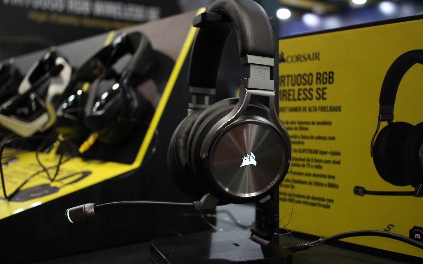 Corsair trás Headset Virtuoso RGB s/fio a BGS 2019