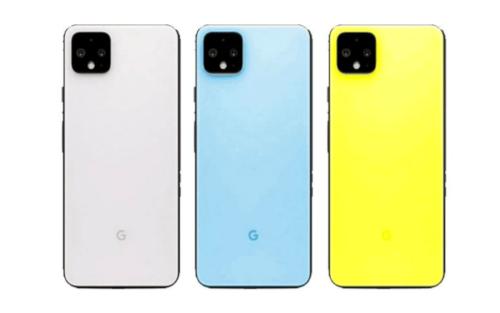 Cores do Google Pixel 4: Talvez rosa, ligeiramente verde, azul céu e realmente amarelo