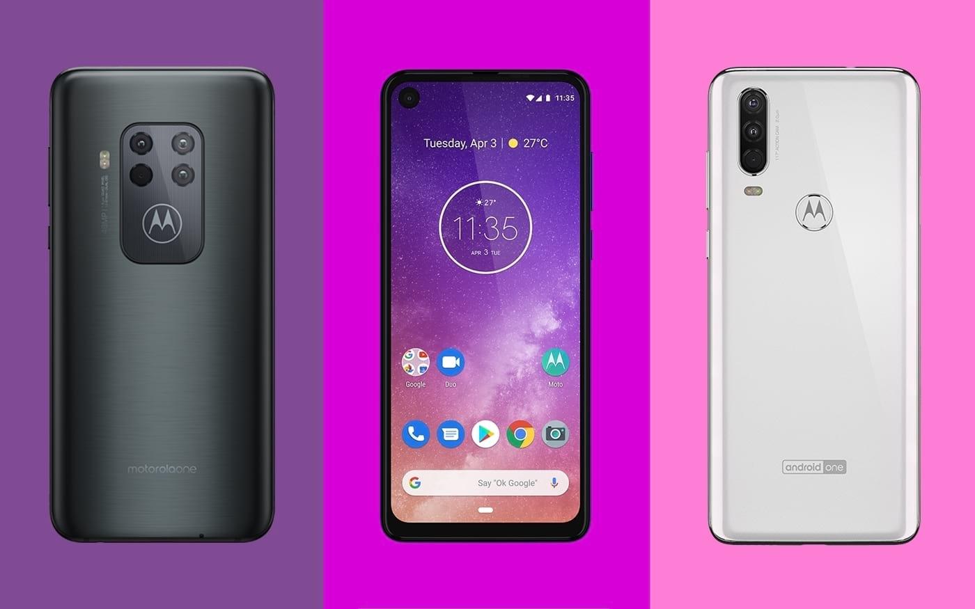 As principais diferenças entre o Motorola One Vision, One Action e One Zoom