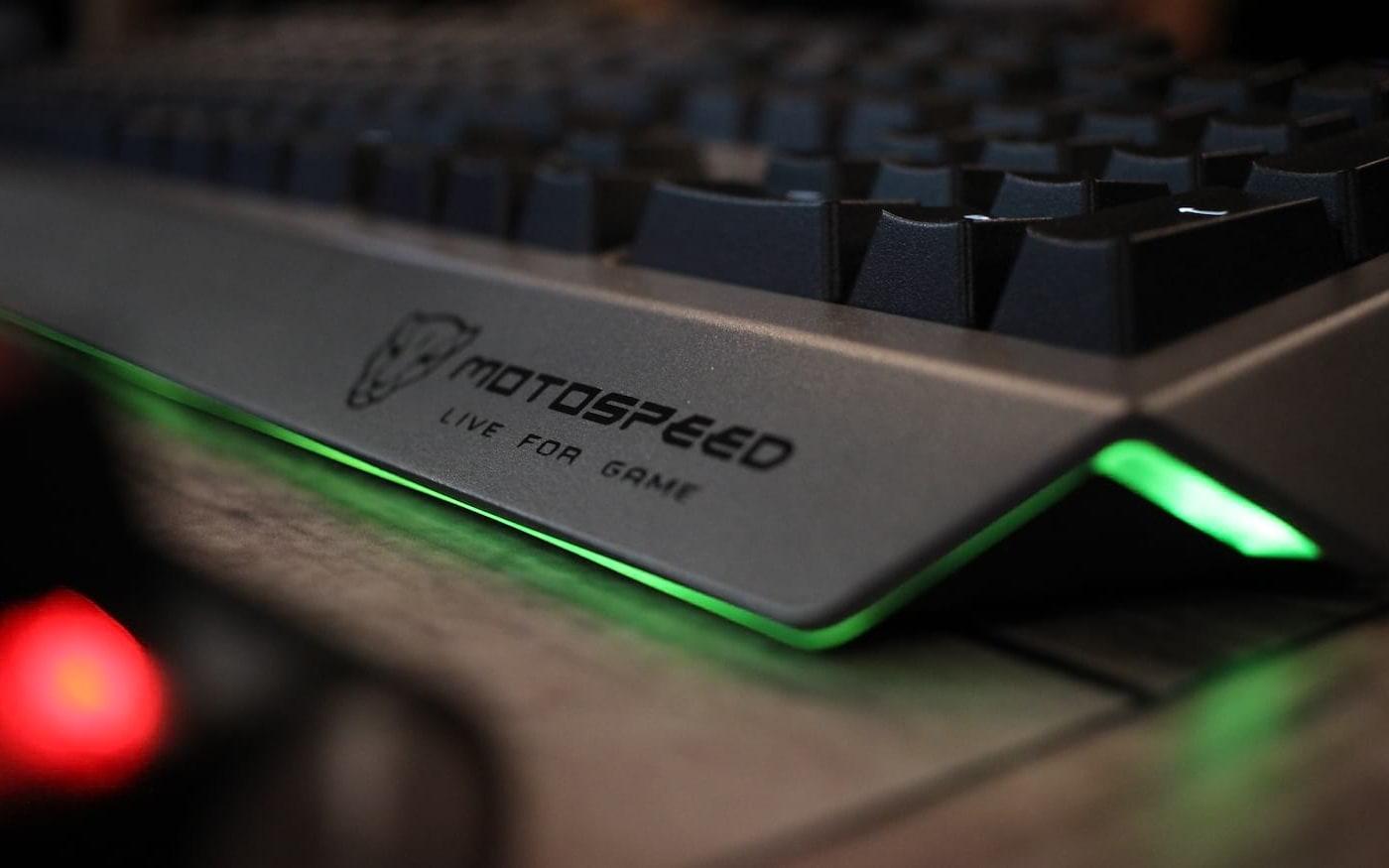 Motospeed tem stand  com seus teclados ópticos e mouses | BGS 2019