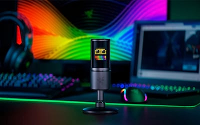 Razer traz microfone para Streamers com reação ao chat, Seiren Emote   BGS 2019