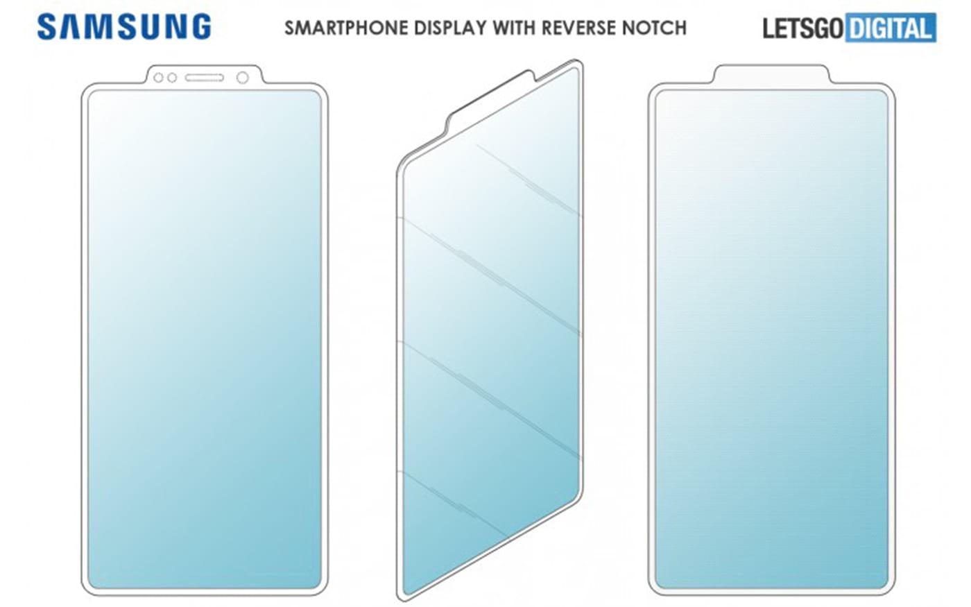 Samsung registra patente de smartphone com entalhe reverso
