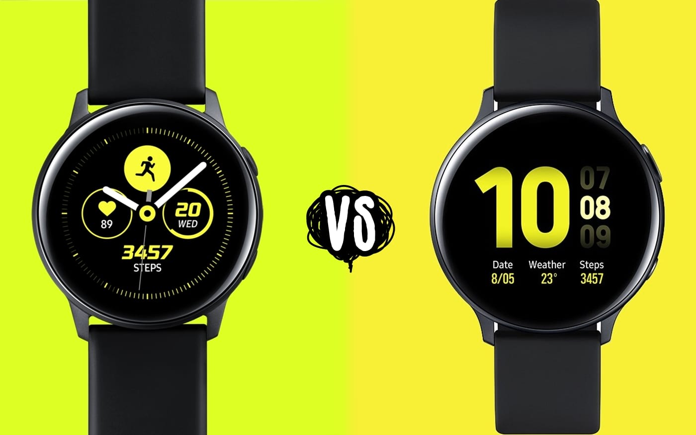 Samsung Galaxy Watch Active 2 vs. Watch Active