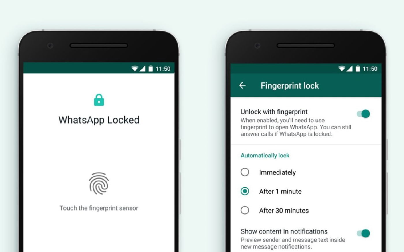 Desbloqueio por digital chega ao WhatsApp no Android