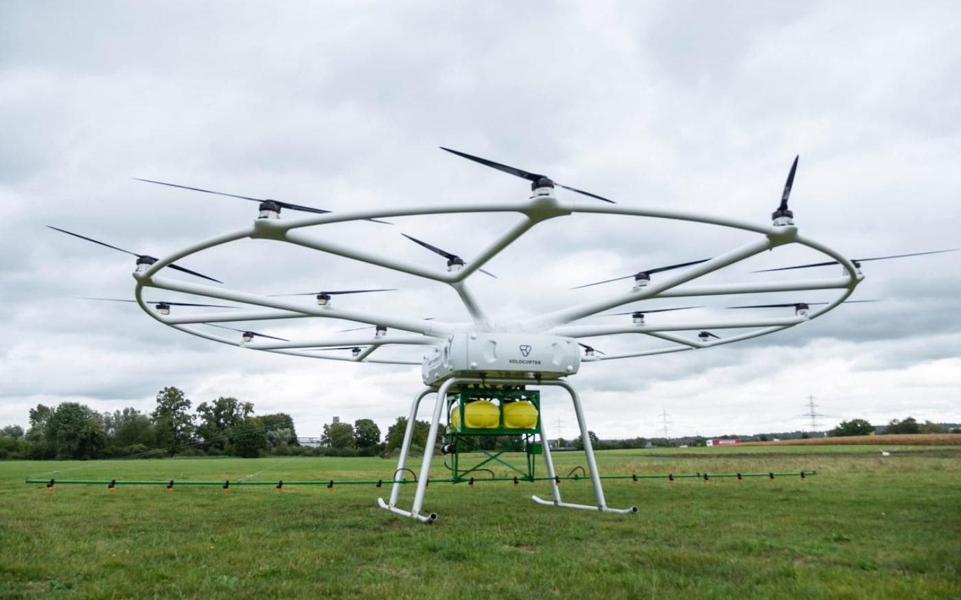 Volocopter e John Deere criam drone agrícola autônomo para pulverização de plantações