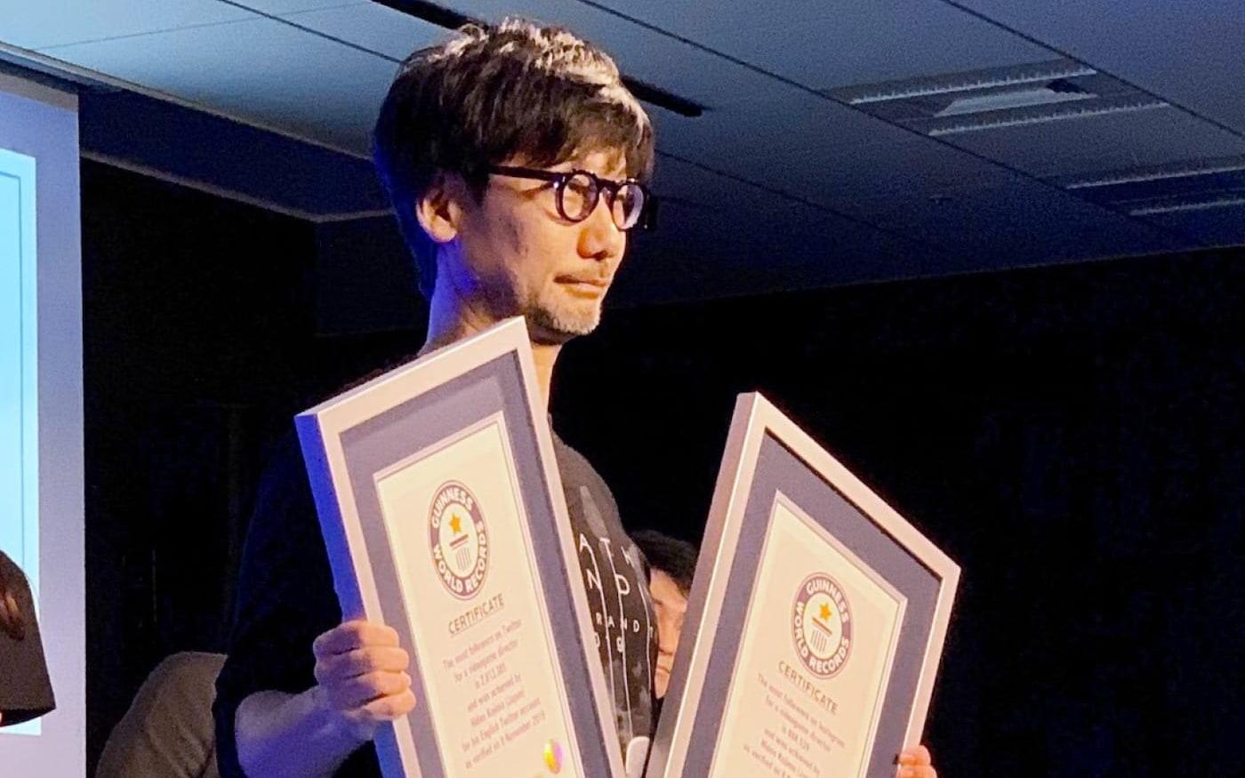 Hideo Kojima recebe dois recordes mundiais do Guiness que não é pelos seus jogos
