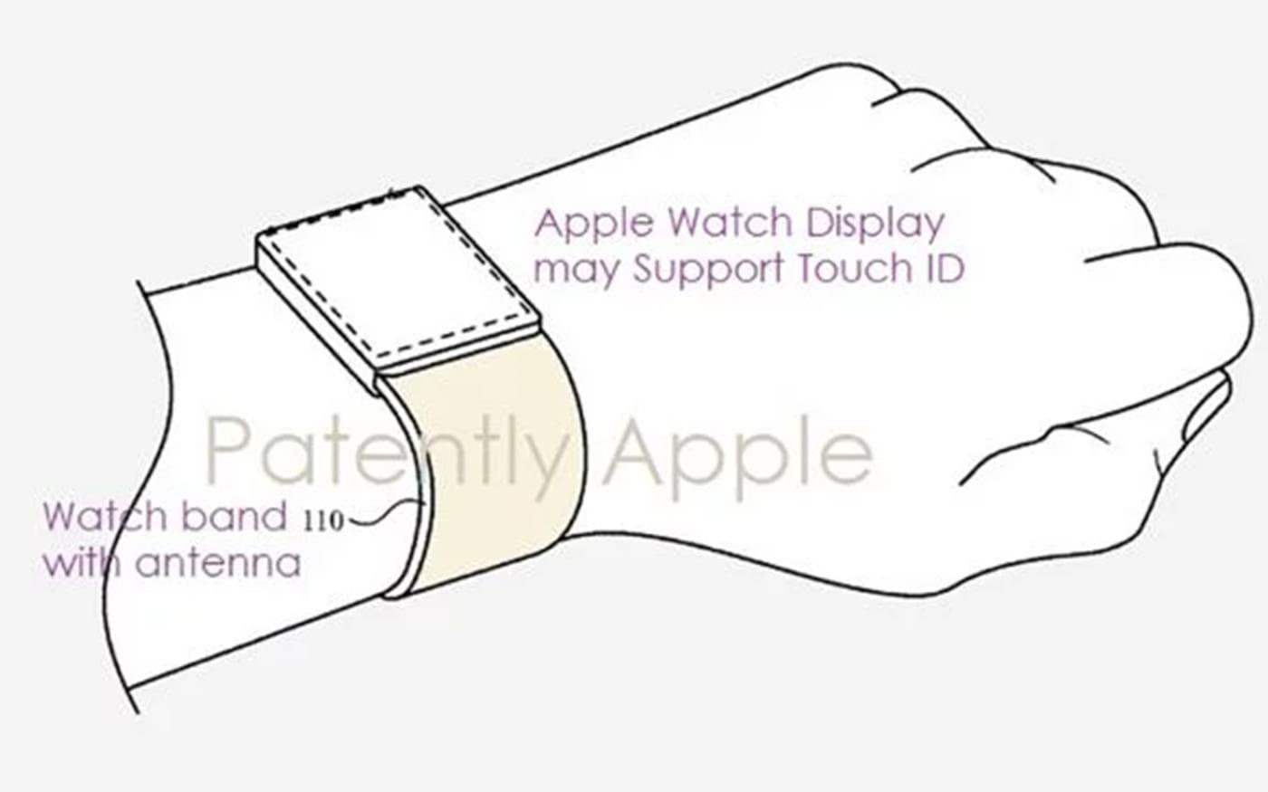 Patente mostra Apple Watch com leitor de digitais na tela