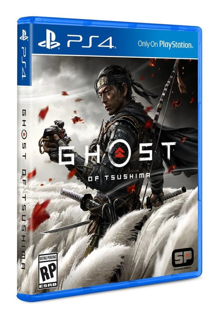 Arte da capa de Ghost of Tsushima. Fonte: Playstation Blog