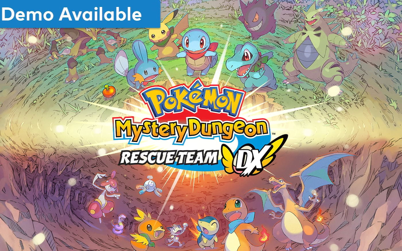 Switch receberá mais um game, o Pokémon Myystery Dungeon Rescue Team DX
