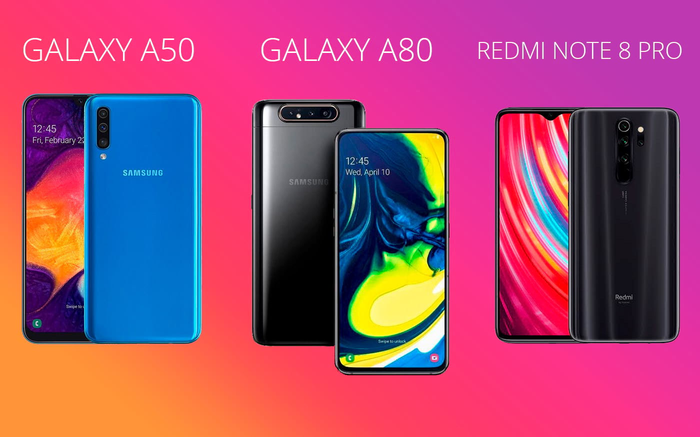 Galaxy A50 vs Galaxy A80 vs Xiaomi Redmi Note 8 Pro - Teste de performance