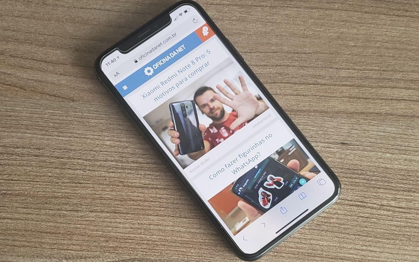 Como tirar print de página inteira e salvar em PDF no iPhone