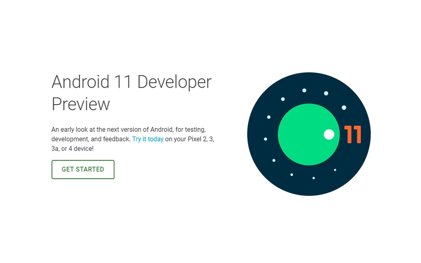 Android 11 Developer Preview está disponível para Google Pixel