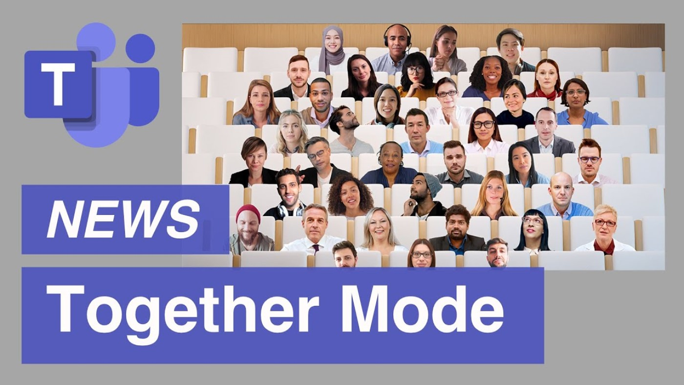 Imagem ilustrativa do modo Together no Microsoft Teams. Fonte: Microsoft