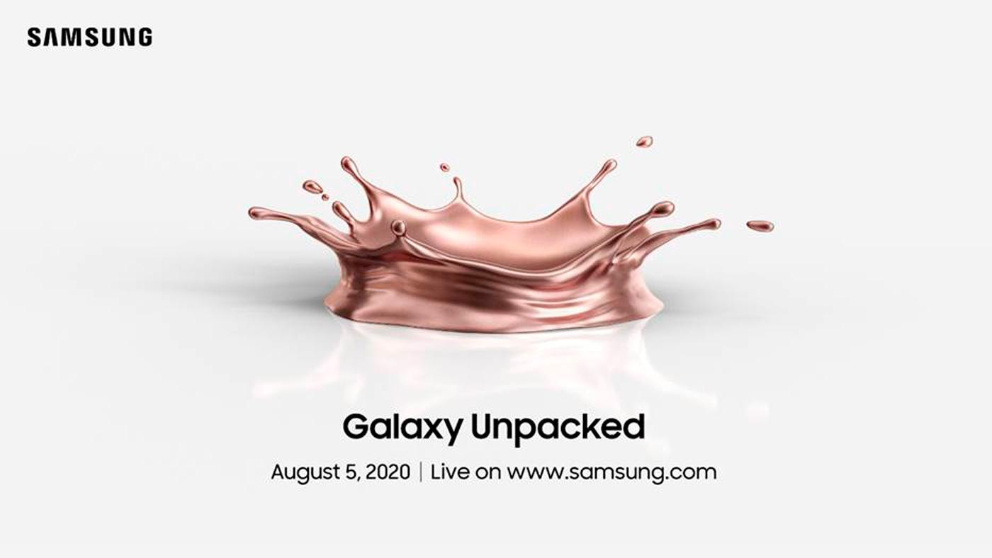 Samsung Galaxy Z Fold 2 será anunciado no Samsung Unpacked, dia 5 de agosto