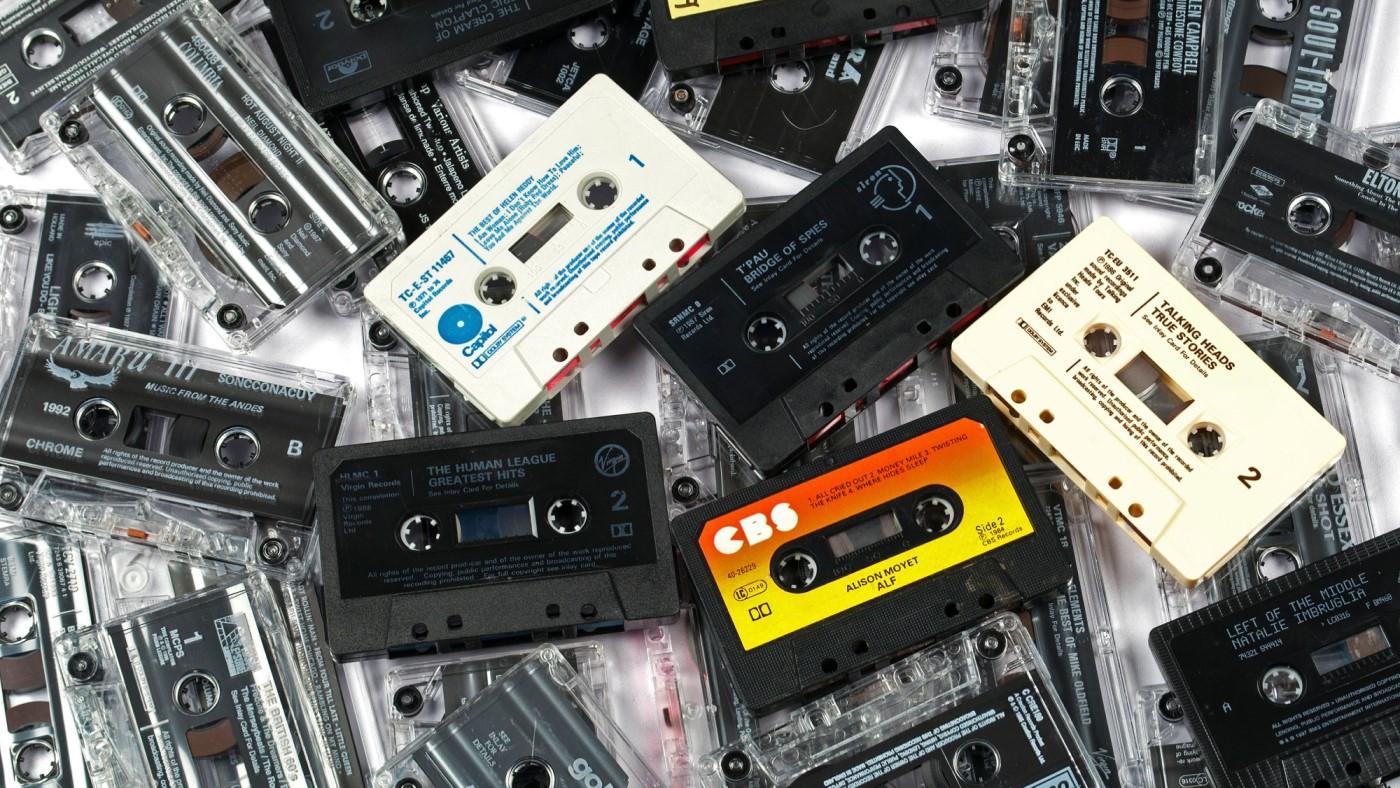 Imagem ilustrativa de fitas cassete (K7). Fonte: Alamy