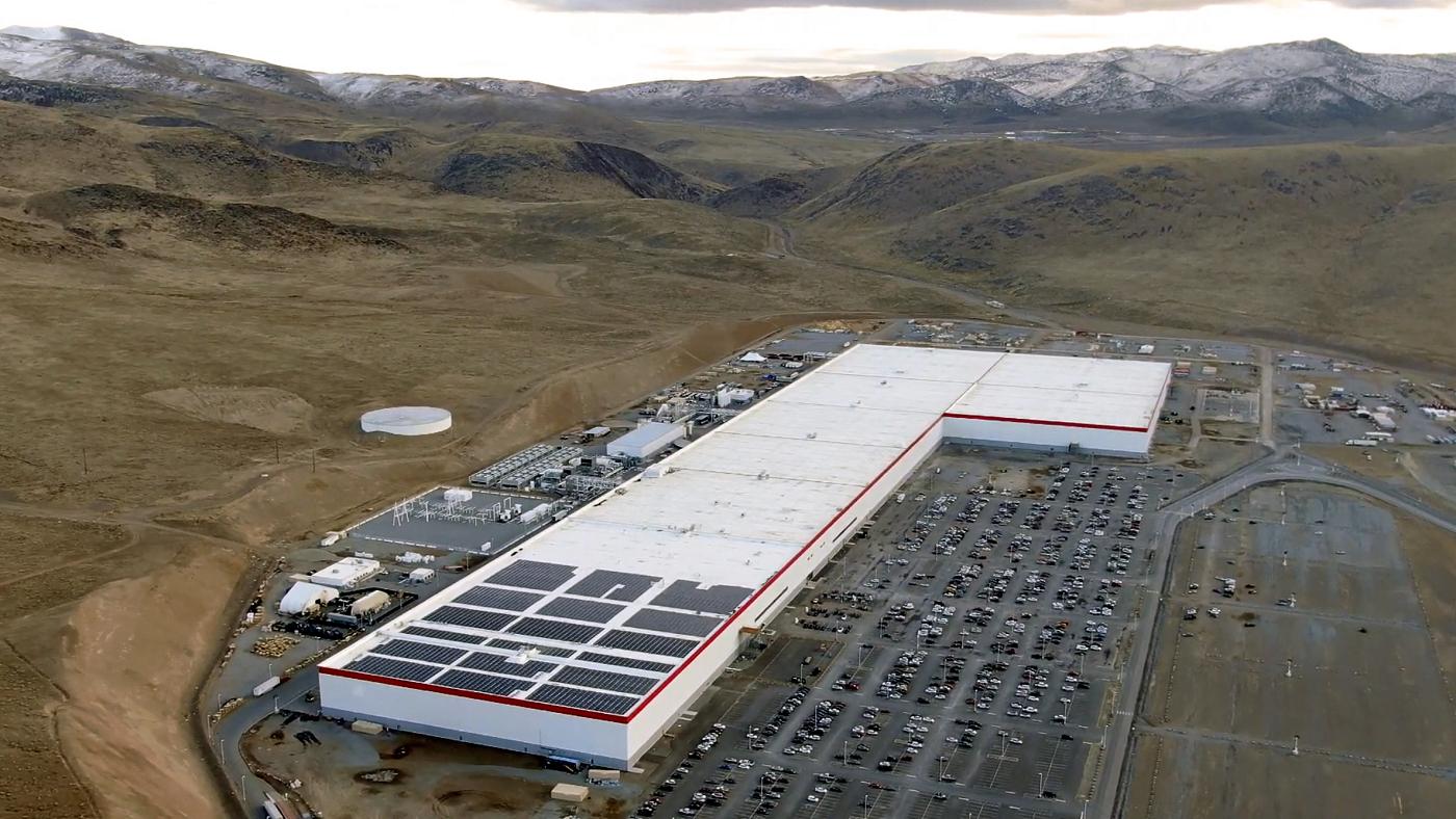 Imagem aérea da fábrica Tesla em Nevada - Imagem: Divulgação