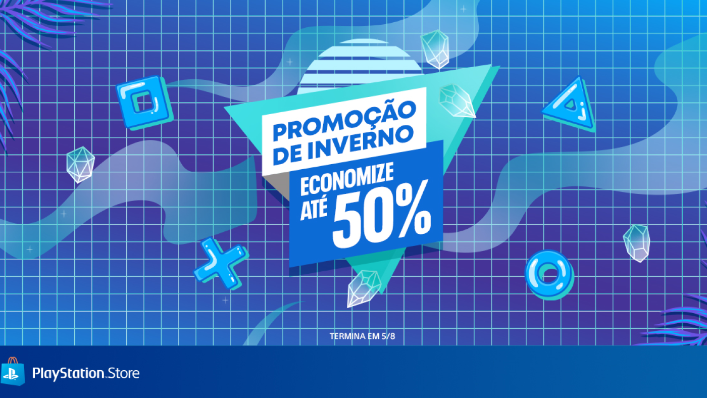Banner da promoção de inverno na PS Store. Fonte: Playstation Brasil