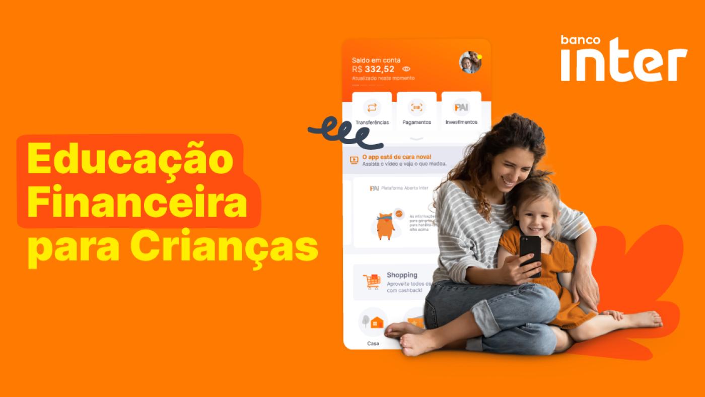 Banner ilustrativo da Conta Kids do Banco Inter. Fonte: Banco Inter