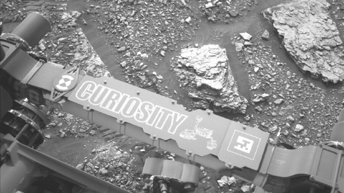 A rocha misteriosa descoberta pelo Curiosity - imagem: Divulgação Nasa